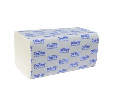 DESNA PREMIUM полотенца бумажные 2-сл V сложения 200л