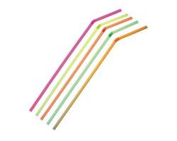Трубочки для коктейля гофрированные, разноцветные.
